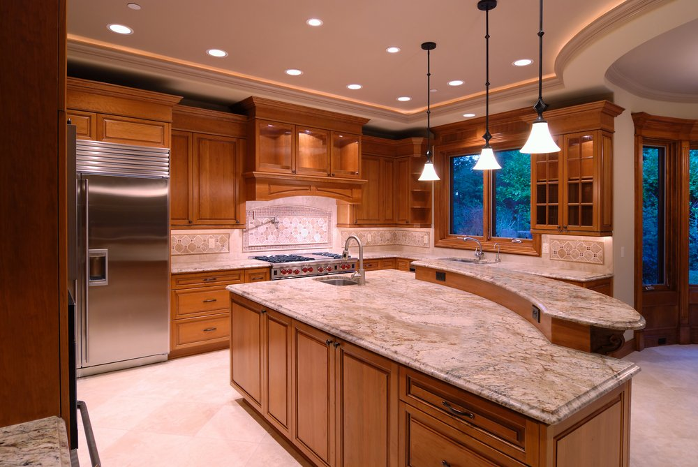 Adding a Granite Kitchen Countertop to Finish a Beautiful Kitchen Design